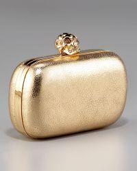 Alexander McQueen Skull-clasp Classic Box Clutch - Lyst
