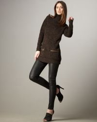 Burberry Brit - Leather Leggings - Lyst