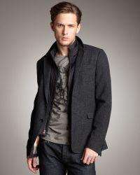 Burberry Brit - Herringbone Zip-out Jacket - Lyst