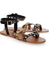 By Malene Birger Diva Studded Leather Sandals - Brown