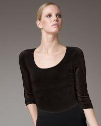 Donna Karan New York Jersey Scoop-neck Top - Lyst