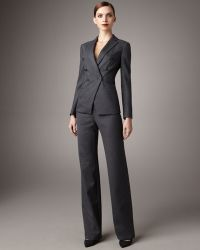 Giorgio Armani Pinstripe Suit - Gray