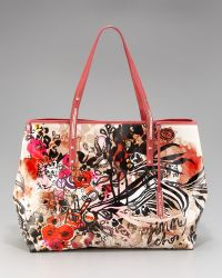 Jimmy Choo Scarlet Painted Icon Tote, Large - Lyst