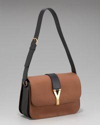 Saint Laurent Chyc Flap-top Shoulder Bag, Large brown - Lyst