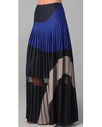BCBGMAXAZRIA The Nouveau Pleated Skirt - Blue