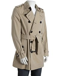 Burberry Prorsum Honey Cotton Belted Britton Trench Coat - Lyst