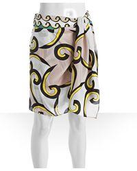 Diane von Furstenberg Pink Broken Waves Print Silk Ceci Shorts - Lyst