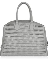 Alaïa Perforated Leather Tote - Lyst