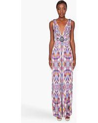 Matthew Williamson Mirror Ikat Jersey Gown - Lyst