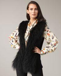 Rachel Roy - Long Fur Vest - Lyst