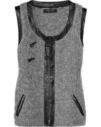 Rag & Bone Lonsdale Wool-blend Vest - Grey