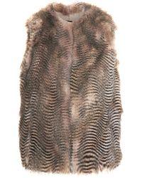 Joseph Callas Coyote Fur Vest - Lyst