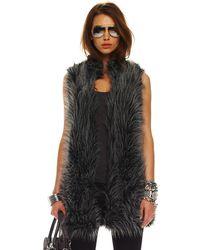 Michael Kors Long Vest, Womens - Gray