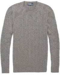 Polo Ralph Lauren Cable Knit Cashmere Sweater - Lyst