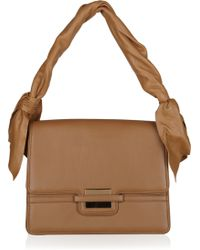 Z Spoke by Zac Posen Twist-strap Leather Bag - Brown