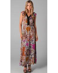 Sunner - Willow Long Print Dress - Lyst