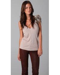 Elizabeth And James Feather Tank - Lyst