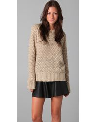 Lover Cable Knit Sweater beige - Lyst