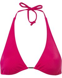 Topshop Purple Triangle Bikini Top - Lyst