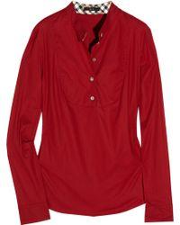 Daks Stretch-cotton Top - Red