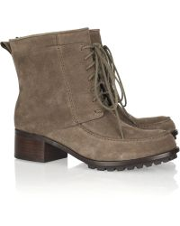 Elizabeth and James Wilda Suede Ankle Boots - Brown