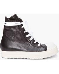 Rick Owens Contrast Sneakers - Lyst