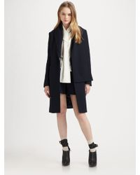 3.1 Phillip Lim Single-breasted Coat with Detachable Scarf - Lyst