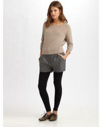 Acne Studios Angora Crewneck Sweater gray - Lyst