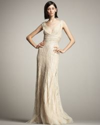 Eastland Beaded Tulle Gown - Lyst
