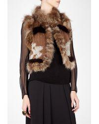 Elizabeth And James Elizabeth Fur Knit Vest Jacket - Lyst