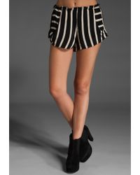 Stone Cold Fox Sunday Bells Shorts in Black/white - Lyst