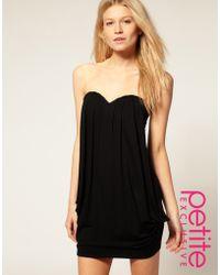 ASOS Collection Asos Petite Exclusive Drape Front Bandeau Dress - Lyst