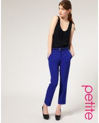 ASOS Collection Asos Petite Cropped Trouser with Jet Pocket - Lyst