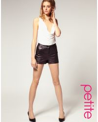 ASOS Collection Asos Petite Quilted Leather Short - Lyst