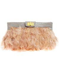 ASOS Collection Asos Nude Feather Clutch - Lyst