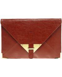 ASOS Collection Asos Portfolio Envelope Clutch - Lyst