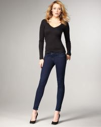 Bleu Lab - Reversible Denim Leggings, Bleu Lead - Lyst