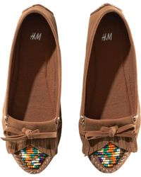 H&M Flat Shoes - Brown