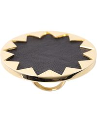 House of Harlow 1960 14ct Yellow Gold Plated Sunburst Cocktail Ring - Metallic