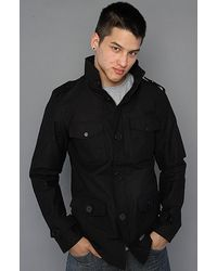 KR3W - The Manchester Canvas Jacket in Black - Lyst