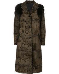 Liska Fur Shoulder Coat - Lyst