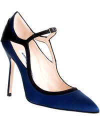 Manolo Blahnik Impore Shoe blue - Lyst