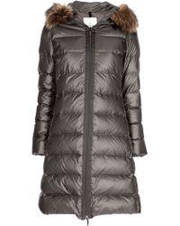 Moncler Nantesfur Coat - Grey