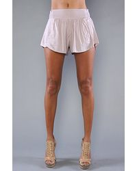 Obey The Victory Shorts in Dusty Lilac purple - Lyst