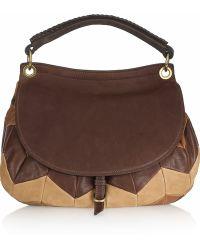 Miu Miu Patchwork Leather Shoulder Bag - Lyst