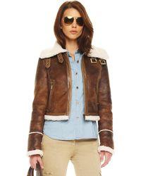 Michael Kors Buckled Motorcycle Jacket - Lyst