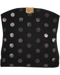 Sergio Rossi Calf Velvet Dots Clutch - Lyst