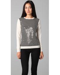 Gryphon - Stripe Crew Neck Sweater - Lyst