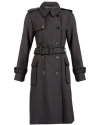 Jaeger Double Breasted Trench Coat - Lyst
