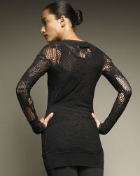 Jean Paul Gaultier Long-Sleeve Lace Tunic - Lyst